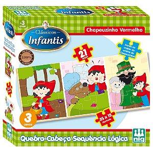 Quebra Cabeça Chapeuzinho Vermelho da Nig Brinquedos 0434