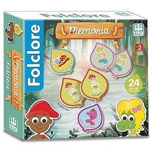 Jogo da Memoria Folclore com 24 Peças da Nig Brinquedos 0437