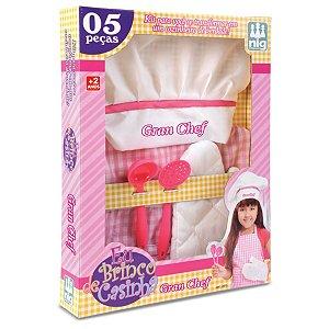 Kit Cozinheiro Infantil Gran Chef Rosa Nig Brinquedos 0611