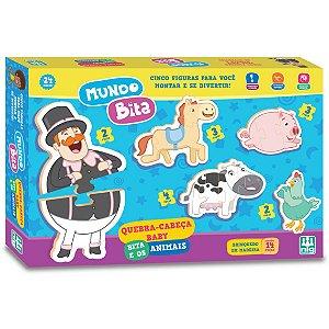 Quebra Cabeça Baby Bita e os Animais da Nig Brinquedos 0692