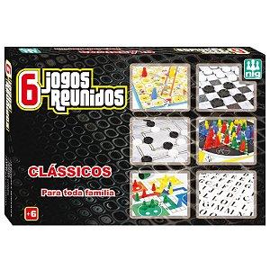 Jogo de Tabuleiro Jogos Reunidos 6 em 1 Nig Brinquedos 1162