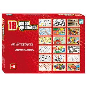 Jogo de Tabuleiro Jogos Reunidos 18 em 1 Nig Brinquedos 1164