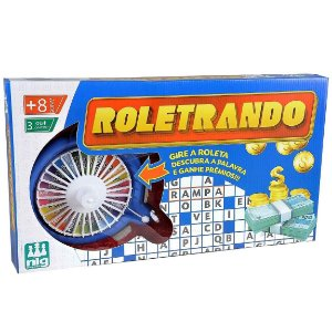 Jogo de Mesa Roleta Infantil Roletrando Nig Brinquedos 1620
