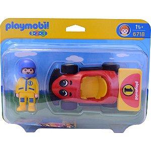 Brinquedo Playmobil 123 Carrinho de Corrida da Sunny 6718