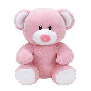 Brinquedo Bicho de Pelucia Ty Baby Urso Rosa Medio Dtc 4513