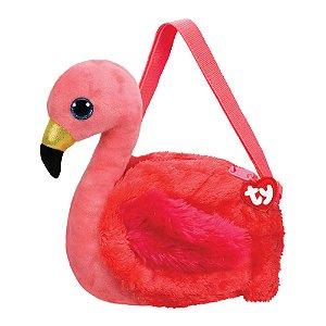Pelucia Bolsa Infantil Ty Fashion Flamingo Gilda Dtc 4727