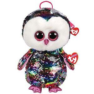 Mochila Infantil Ty Fashion Owen Coruja de Paete da Dtc 5012