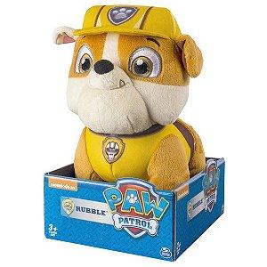 Brinquedo Pelucia Patrulha Canina Rubble 30cm da Sunny 1345