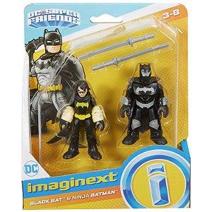 Imaginext Dc Super Friends Black Bat e Batman Ninja M5645