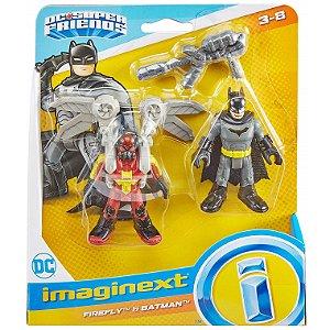 Imaginext Dc Super Friends Vagalume e Batman Classico M5645