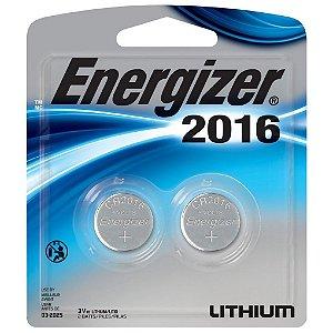 Bateria Botao Energizer 2016 Lithium 3V Cartela com 2 CR2016