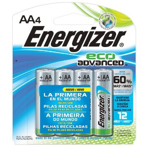Pilha Ecologica Energizer Eco Advanced AA4 Alcalina de 1,5V