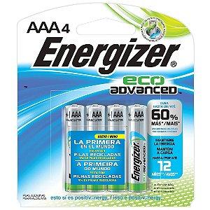 Pilha Ecologica Energizer Eco Advanced AAA4 Alcalina de 1,5V