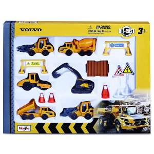 Conjunto Pack Volvo Construçao Metal Die Cast Maisto 12376