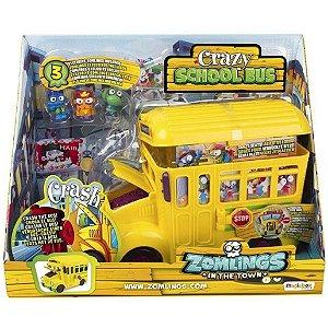 Brinquedo Playset Veiculo Onibus Zomlings da Magic Box 82712