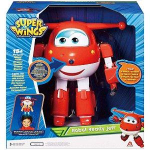 Brinquedo Figura Super Wings Jett Robo ao Resgate Fun 84348