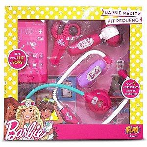 Brinquedo Kit de Medica Pequeno Infantil da Barbie Fun 74963