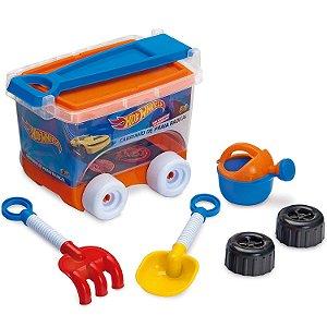 Brinquedo Kit de Praia Hot Wheels Carrinho Bau da Fun 82742