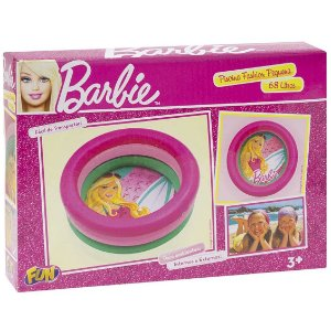 Brinquedo Piscina Inflavel Pequena Barbie Fashion Fun 76705