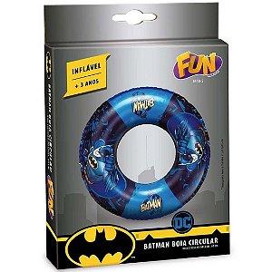 Brinquedo Boia Inflavel Redonda Dc Comics Batman Fun 84185