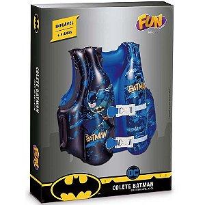 Colete Inflavel Infantil Azul Dc Comics Batman da Fun 84182