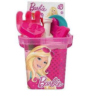 Brinquedo Baldinho de Praia Rosa Barbie Fashion da Fun 77447