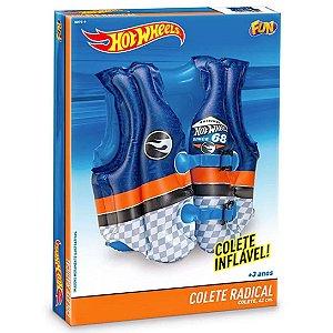 Colete Inflavel Infantil Radical Hot Wheels Azul Fun 80729