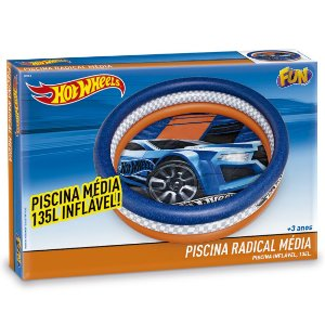 Piscina Inflavel Radical Hot Wheels com 135 Litros Fun 80730