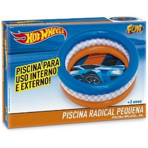 Piscina Inflavel Radical Hot Wheels com 68 Litros Fun 80960
