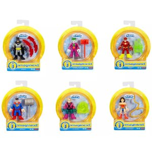 Combo com 6 Bonecos Imaginext Dc Super Friends Fisher Price