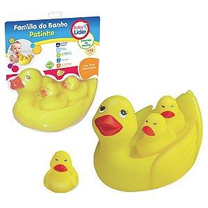 Brinquedo Infantil Familia do Banho Patinho Baby Lider 5707