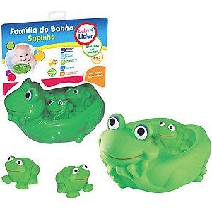 Brinquedo Infantil Familia do Banho Sapinho Baby Lider 5629