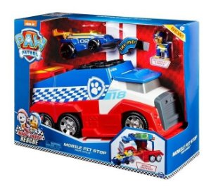 Brinquedo Patrulha Canina Veiculo Pit Stop Rescue Racer 1289