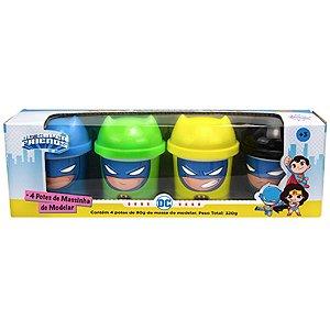 Massinha de Modelar Infantil 4 Potes Dc Batman Sunny 2161