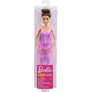 Boneca Barbie Eu Quero Ser Bailarina Morena da Mattel Gjl58