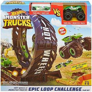 Hot Wheels Monster Trucks Pista Playset Looping Mattel Gky00