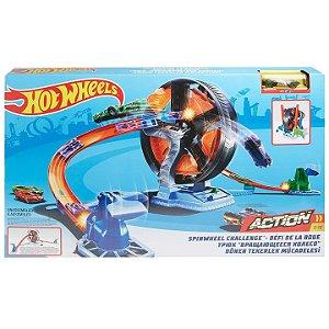 Hot Wheels Action Pista Competiçao Giratoria da Mattel Gjm77