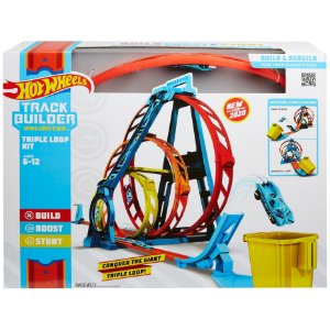 Hot Wheels Track Builder Pista Looping Triplo Mattel Glc96