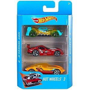 Veiculo Hot Wheels Pack com 3 Carros Sortidos Mattel K5904