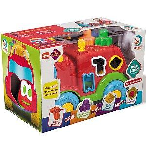Brinquedo Veiculo Infantil Baby Land Dino Bombeirinho 3027