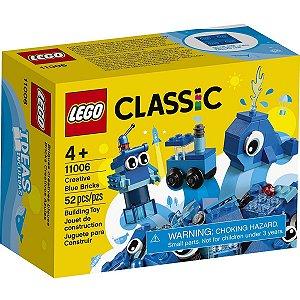 Lego Classic Blocos de Montar Peças Azuis Criativas 11006