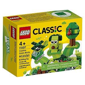 Lego Classic Blocos de Montar Peças Verdes Criativas 11007