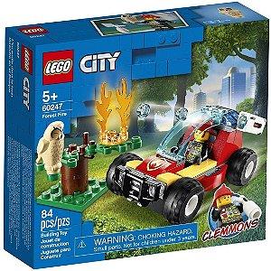 Lego City Blocos de Montar Floresta em Chamas 84 Peças 60247
