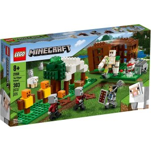 Lego Minecraft Playset The Pillager Outpost 303 Peças 21159