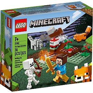 Lego Minecraft Playset A Aventura em Taiga 74 Peças 21162
