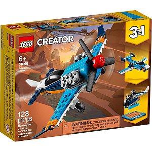 Lego Creator 3 em 1 Aviao de Helice Azul com 128 Peças 31099