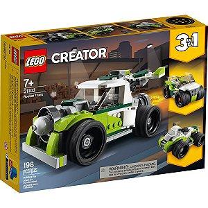 Lego Creator 3 em 1 Veiculo Caminhao Foguete 198 Peças 31103