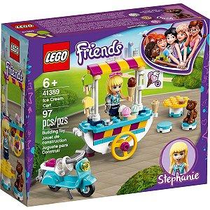 Lego Friends Stephanie e Carrinho de Sorvetes 97 Peças 41389