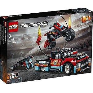 Lego Technic A Motocicleta e o Caminhao de Acrobacias 42106