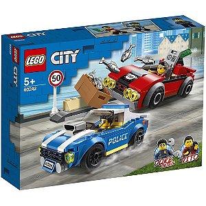Lego City Detençao Policial na Autoestrada 185 Peças 60242